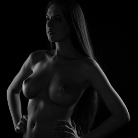 Nikolart by Reto Heiz - Nudes & Boudoir Artistic Nude ( model, nude, black and white, nudeart, lowkey )