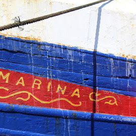 Marina by Christina Marr - Transportation Boats ( abstract, bright, beautiful, boat, colours )