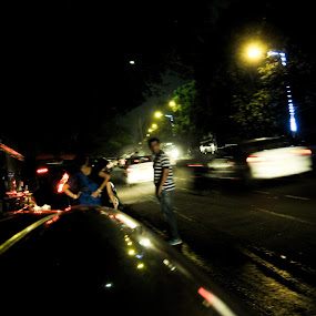 People on the streets  by Hrijul Dey - City,  Street & Park  Street Scenes ( cars, roadside, light, people, speed )