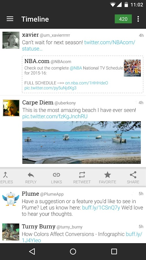 Plume for Twitter Screenshot 1