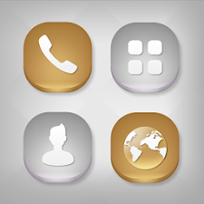 Gold & Silver Atom Iconpack