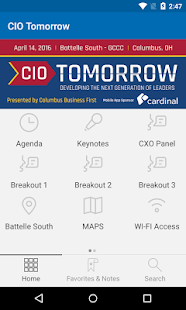 CIO Tomorrow 2016 - screenshot