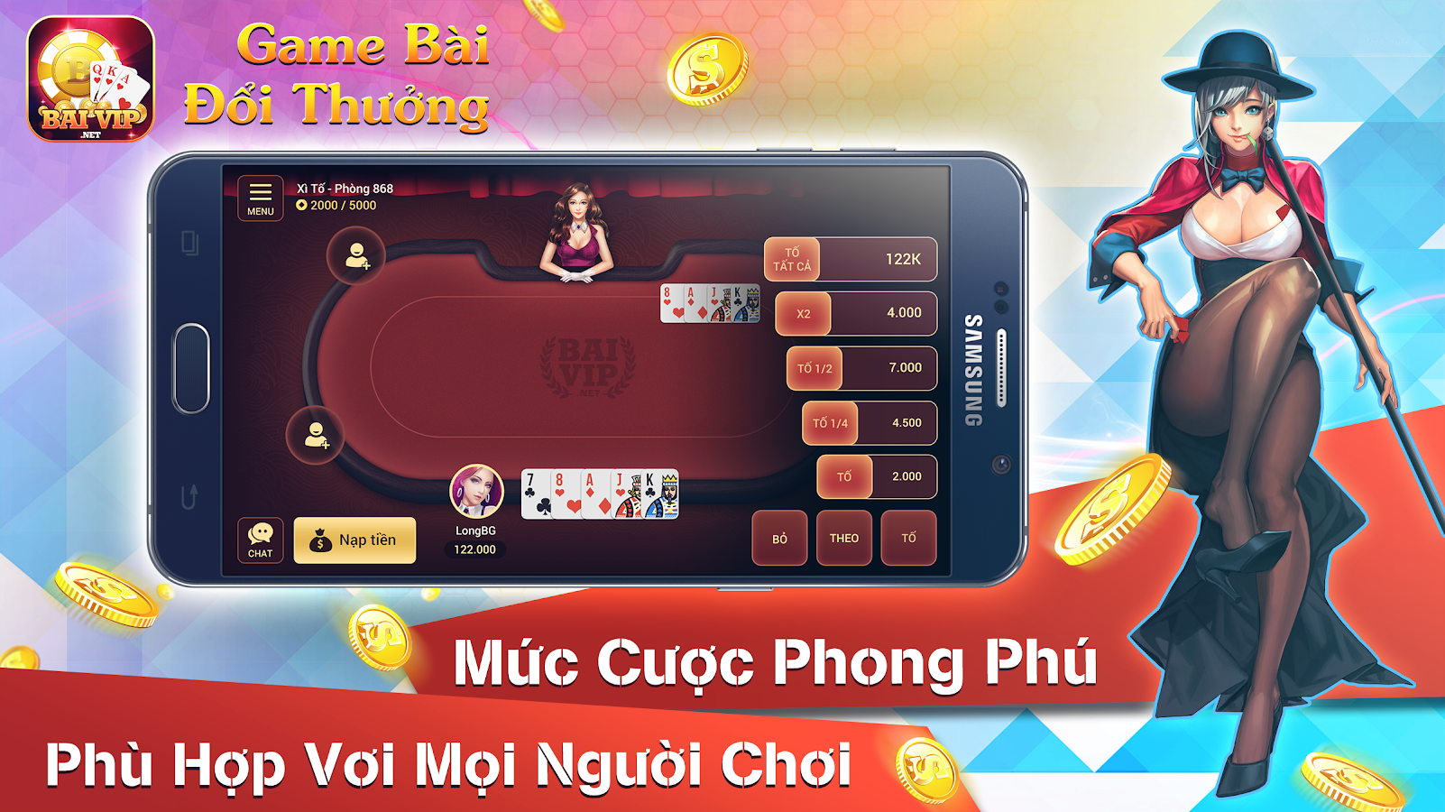BaiVip - Game danh bai online Screenshot 2