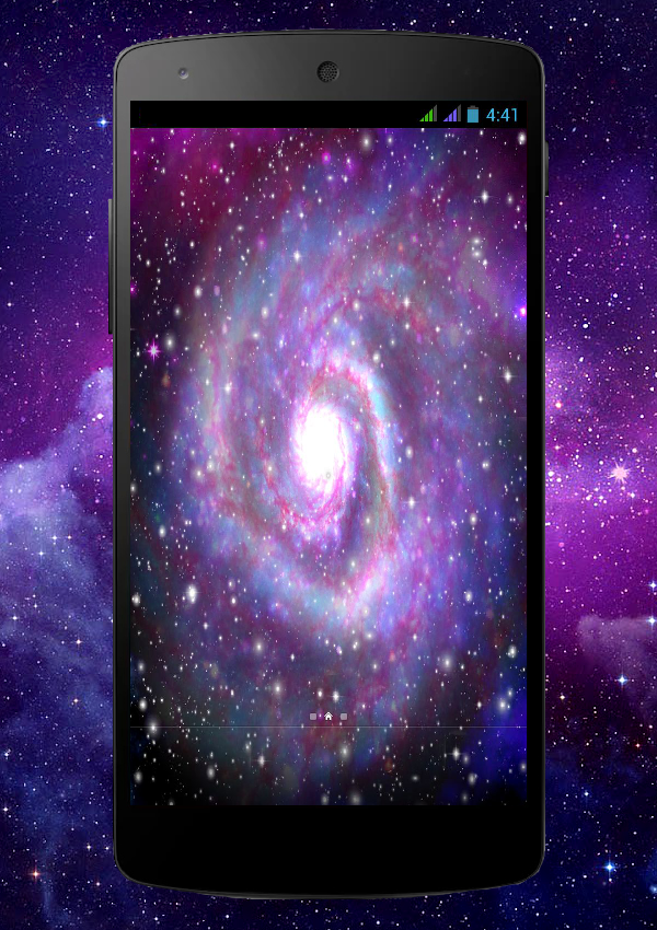 Galaxy Pro Live Wallpaper Screenshot 1