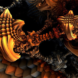 The Return of Depth and Color by Ricky Jarnagin - Illustration Abstract & Patterns ( abstract, ricky jarnagin, mandelbulb, dsynegrafix, 3d art, fractal, geometric, digital )