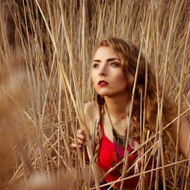 Wild and Free by Kelly Horn - People Fashion ( bold, freedom, hippie, grass, boho, gypsy )