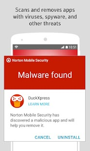 Norton Security and Antivirus Screenshot