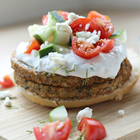 Open-Faced Mediterranean Chickpea Burger