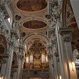 St. Stephen's Cathedral, Passau by Austin Speaker - Buildings & Architecture Places of Worship ( baroque, catholic, bavaria, organ, passau, germany, cathedral, stephen )