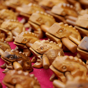 wooden frog by Mohamad Hafizuddin - Artistic Objects Other Objects