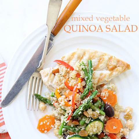 Mixed Vegetable Quinoa Salad