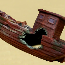 Ship Wrecked 1 by RMC Rochester - Digital Art Things ( abstract, macro, colors, random, object, boat )