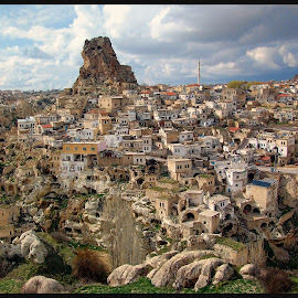 Cappadocia by James Rudick - City,  Street & Park  Vistas ( cappadocia, caves, turkey, village, landscape,  )