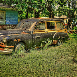 Abandoned car by Ron Olivier - Digital Art Things ( abandoned car,  )