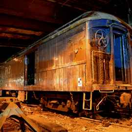 An Old Abandoned Train by Rob Kovacs - Transportation Trains