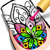 Nail Coloring Book Icon