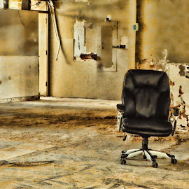 What's left?? by Michael Grado - Buildings & Architecture Decaying & Abandoned ( chair, renovations, demolished, torn, abandoned )