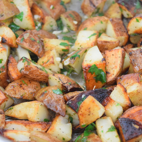Roasted Garlic Lemon Potatoes