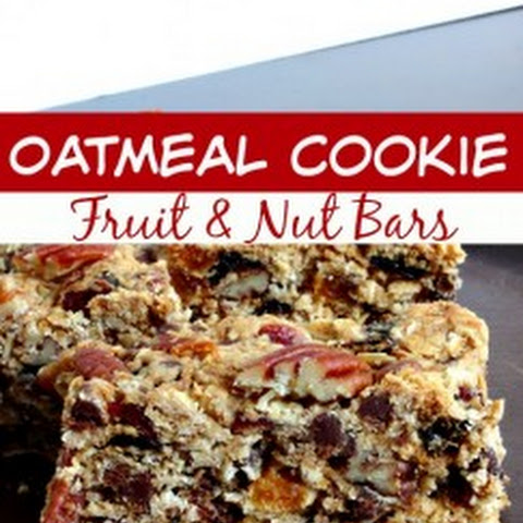 Oatmeal Cookie Fruit & Nut Bars - Perfect for School Lunches & After School snacks!