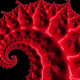 Red fractal  by Capucino Julio - Illustration Abstract & Patterns ( abstract, red, pattern, fractal, digital )