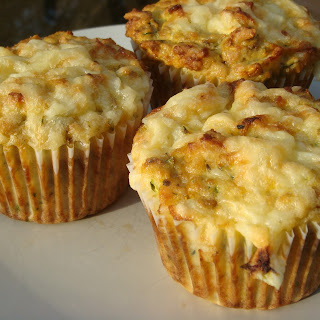 Courgette (Zucchini) and Cheese Muffins (with coconut flour)