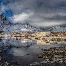 Landscape of Lofoten by Edel Dagfinrud - Landscapes Waterscapes ( reflection, mountain, waterscape, weather, landscape photography, reflections, landscape, lofoten, norway,  )