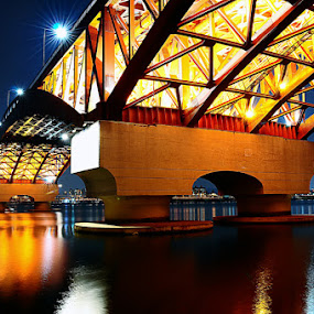 Night bridge by Khoirul Huda - Buildings & Architecture Bridges & Suspended Structures