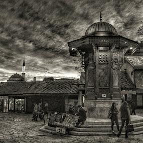 Sebilj1 by Marko Dragović - Black & White Street & Candid ( sebilj, street, sarajevo, bih, city )