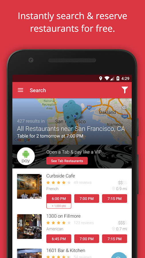 OpenTable: Restaurants Near Me Screenshot