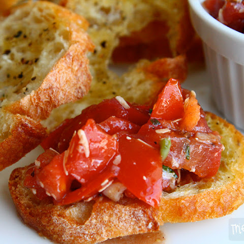 Italian Tomato and Basil Bruschetta