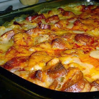 Cheesy Smoked Sausage & Potato Casserole