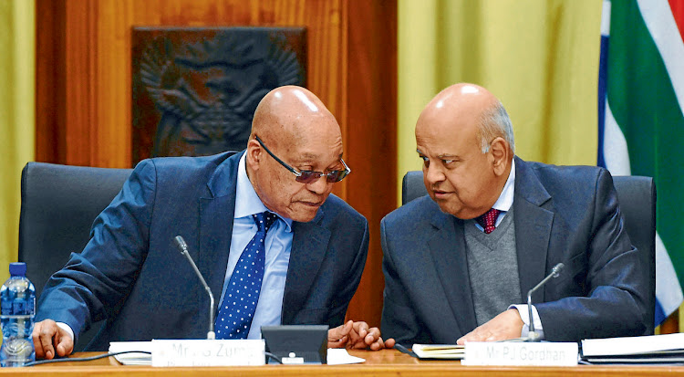 Jacob Zuma and Pravin Gordhan. Picture: SIYABULELA DUDA