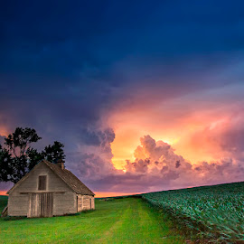 Colors of Nebraska by Ken Smith - Buildings & Architecture Decaying & Abandoned ( sunset, nebraska, thunderstorm, landscape )