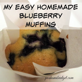 My Easy Homemade Blueberry Muffins #Recipe