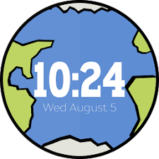 Earth & Moon Wear Watch Face