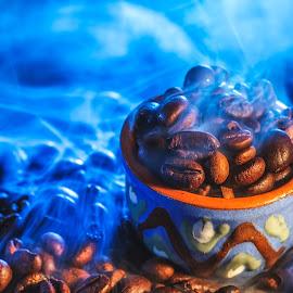 Hot coffee beans by Dumitru Doru - Food & Drink Ingredients ( aroma, fresh, coffee beans, food, drink, coffee, arabian, hot coffee beans, bens )