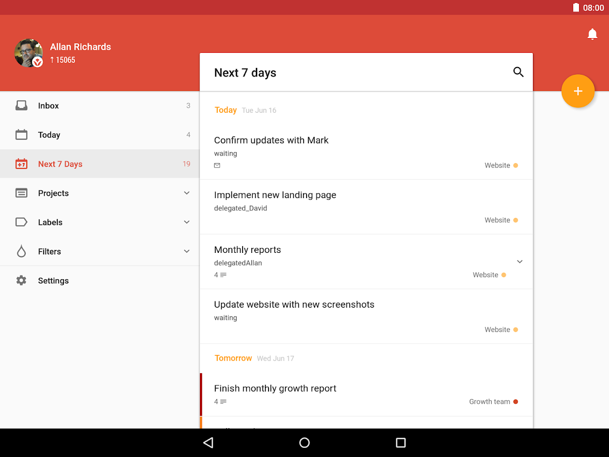 Todoist: To-Do List, Task List Screenshot 10