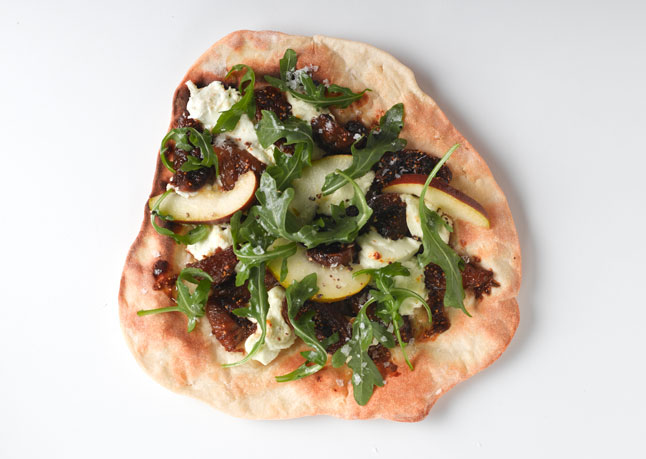 Fig and Goat Cheese Pizza with Arugula