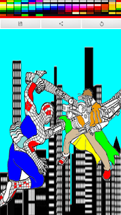 coloring spider game - screenshot