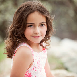 Beauty by Melissa Papaj - Babies & Children Child Portraits ( child, model, girl, female, beautiful, spring, blossoms )