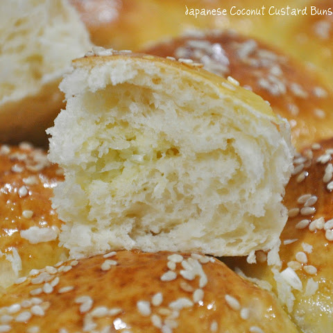 Japanese Coconut Custard Buns