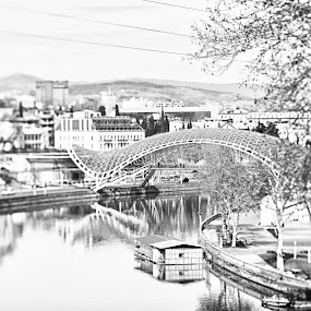 Tbilisi, Georgia by Oxana Chorna - Buildings & Architecture Bridges & Suspended Structures ( tbilisi, georgia, bridge, city, river )