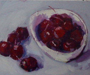 Just a Bowl of Cherries Oil 10x8""