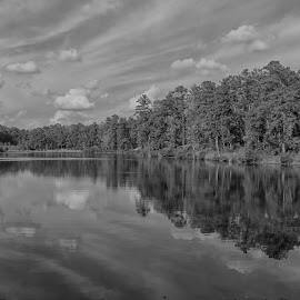 The Fall in Black and White Relection by Thomas Vasas - Black & White Landscapes ( scenics, reflections, travel, waterscapes, landscapes )