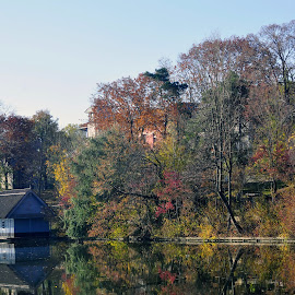 lacustra by Mihai Nita - City,  Street & Park  City Parks ( water, old buildings, autumn leaves, autumn, lake, landscape, water mirror )