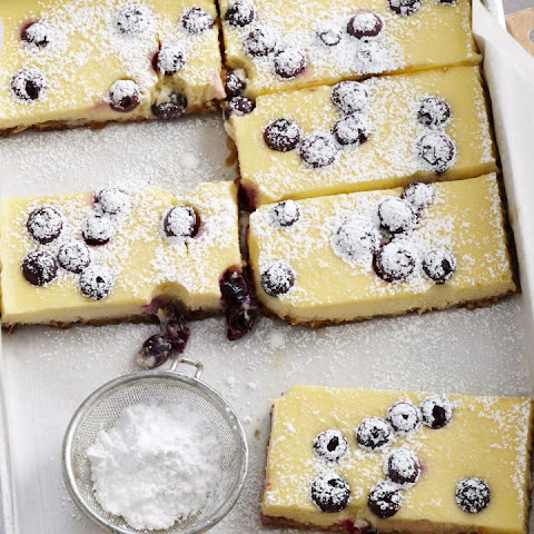 Sour Cream and Blueberry Cheesecake Bars