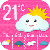 Pink Weather Widget