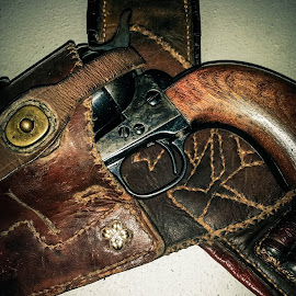Old Cowboy by Tiffany Serijna - Artistic Objects Other Objects ( cowboy, vintage, tiffanyserijna, brown, rustic, gun )