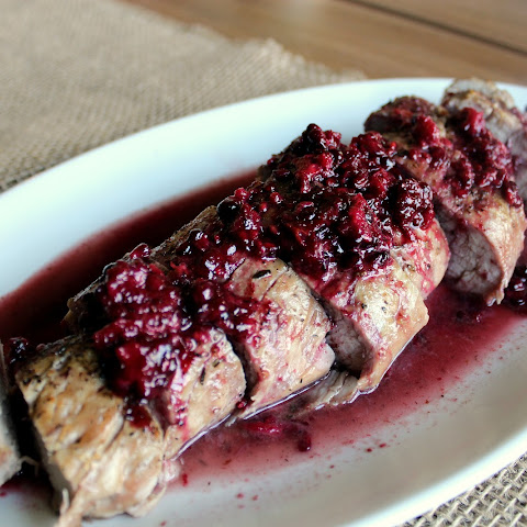 Roasted Pork Tenderloin with Blackberry Merlot Sauce