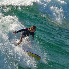 HB Surfer by Jose Matutina - Sports & Fitness Surfing ( surfer, huntington beach )